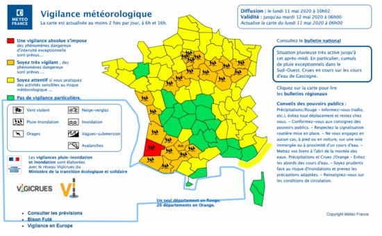 Nouvelles - plus de 300 interventions en Gironde, 110 dans les Landes