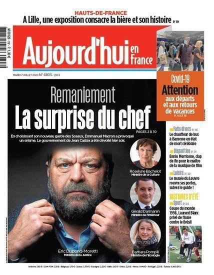 Nouvelles - passation de pouvoirs à Bercy entre Olivier Dussopt et Gérald Darmanin, avant son arrivée place Beauvau